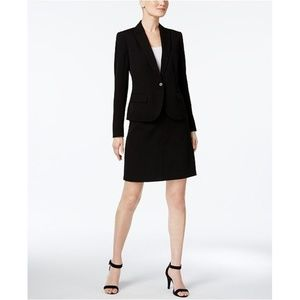 Anne Klein Skirt Suit Black Popular Style NEW $240